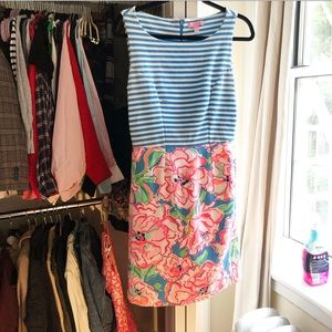 Lilly Pulitzer Striped + Floral Dress Size S